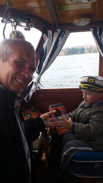 plaukimas laivu vaikams Nidoje
