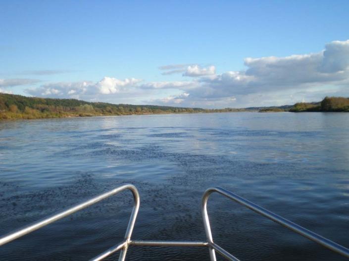 Plaukimas laivu iš Kuršių marių į Kauną