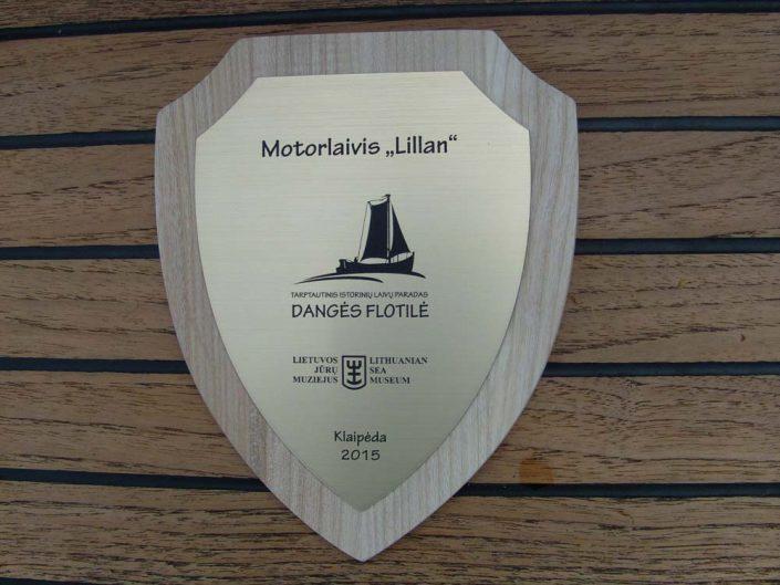 Motorlaivis Lillan tarptautiniame istorinių laivų parade Dangės flotilė