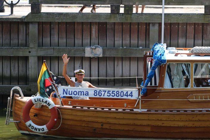 Jūros šventė, Danės upėje plaukimas laivu