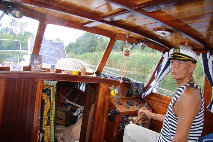 Plaukiant laivu Jūros šventėje