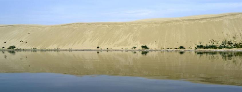 plaukimas laivu prie didžiosios kopos Nidoje